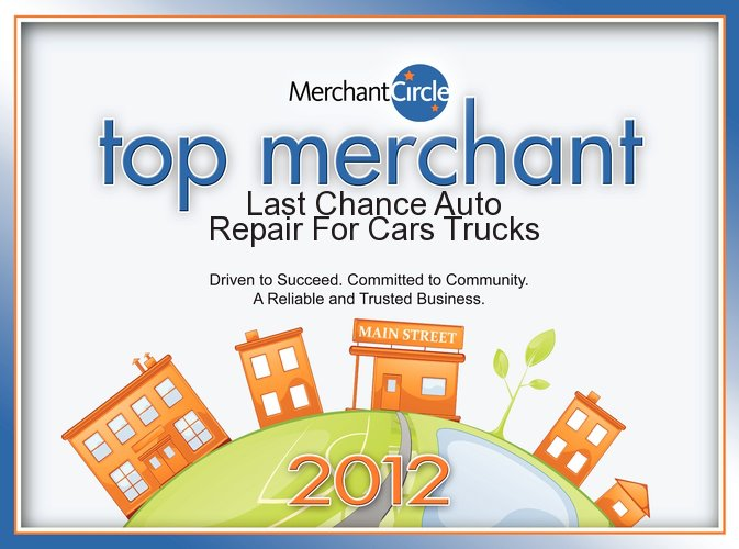 Auto Repair Shop Plainfield, IL Wins Award In 2012