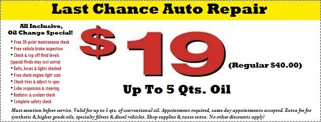 Oil Change Coupon Plainfield, IL