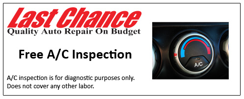 Free Auto Air Conditioning Inspection Plainfield, Naperville, Bolingbrook, Romeoville, IL