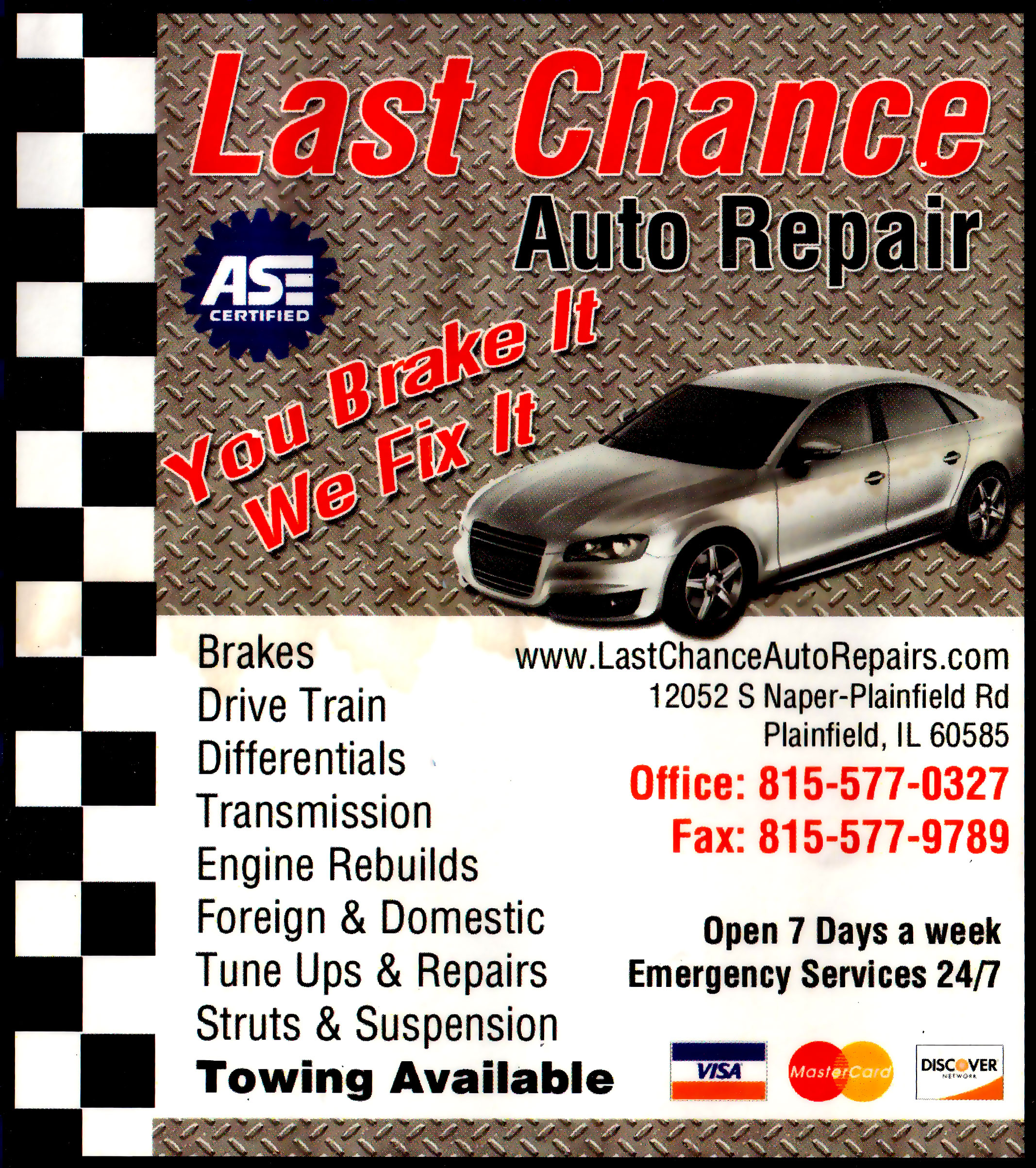 Bolingbrook Auto Repair Shop Serving Bolingbrook Il