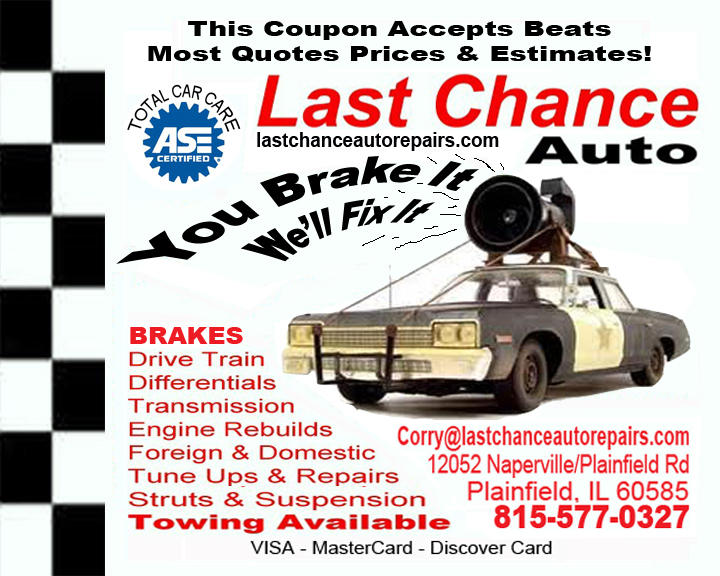 Auto Repair Plainfield, IL, Flyer