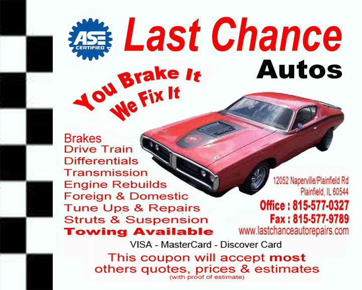 Last Chance Auto Repair Plainfield Flyer