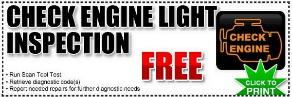 Free Check Engine Light Inspection Plainfield, Naperville, Bolingbrook, IL