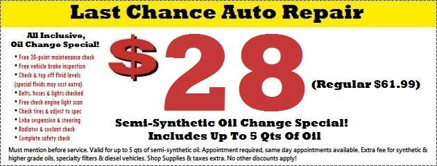 Oil Change Special Plainfield, Naperville, Bolingbrook, IL