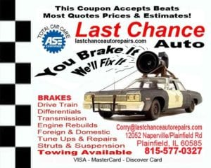 Auto Repair Plainfield, Naperville, Bolingbrook, IL