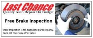 Free Brake Check At Last Chance Auto Repair